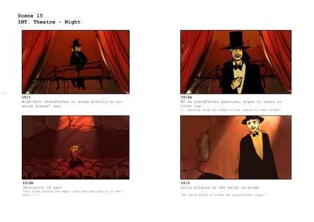 Storyboard from 'Sleight of Hand' 2009 Film Bursary Award