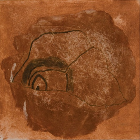 """Pamela de Brí. """"Rianta"""" Drypoint & etching with chine collé"""