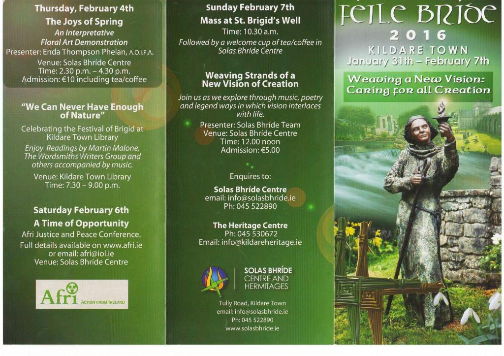 Feile Bride Festival programme p2