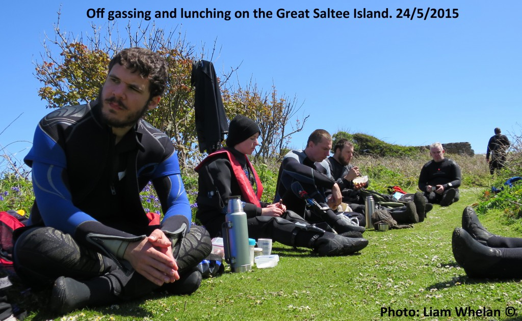 Lunch Great Saltee 24-5-2015