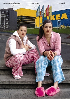 WAITING FOR IKEA_ PHOTOGRAPHER WILL ST LEGER _ ACTORS GEORGINA MC KEVITT JACINTA SHEERIN