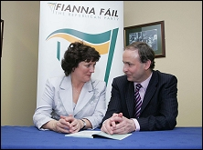 Aine Brady and Minister Martin