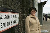 Aine Brady at Sallins train station