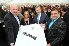 Bernard Jackman, Eilis Quinlan, an Taoiseach, Eddie Hobbs at the launch