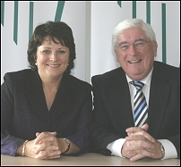 Aine Brady, T.D. and Minister for Education and Science Batt O'Keeffe T.D