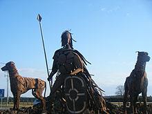 Fionn Mac Cumhail and his Hounds