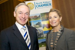 Minister Richard Bruton TD with Chamber President Eilis Quinlan