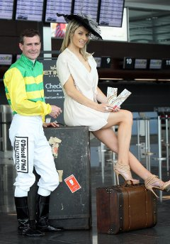 Model, Pippa O'Connor and champion jockey, Pat Smullen launch The Etihad Airways Classic Icon competition in association with Irish Tatler