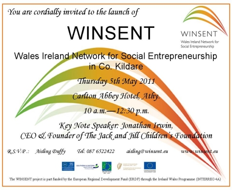 Winsent kildare official launch athy may 5th kildare launch invitation stopboris Images