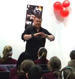 Derek Landy Visit to Leixlip Library