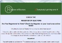 Register of electors