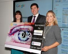 Cera Ward Head of Sales, Google Ireland, John Lowry, EirGrid Main Sponsor and Eilis Quinlan, North Kildare Chamber President