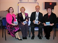 At the launch: Dolores Hamill, Mae Leonard, Brian McCabe and Anne McNeill