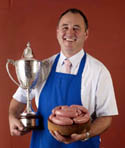John Young, Managing Director, JJ Young & Sons, Clane & Celbridge, Co Kildare, winner of the Supreme Champion Sausage title at the recent Craft Butcher Awards.