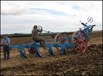 Ploughing with Steam Plough Engines