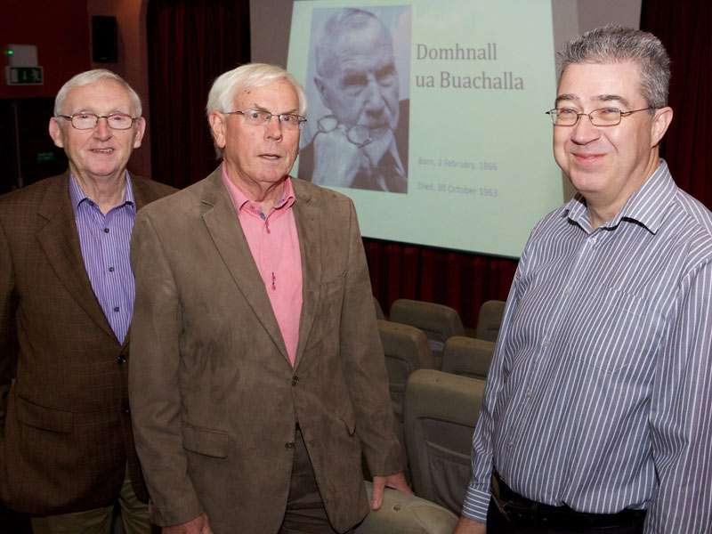 L to R: Ger McCarthy (KFLHG), Adhamhnán O Súilleabháin, James Durney (KFLHG)