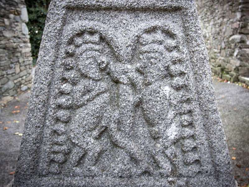 Adam, Eve and the Serpent in the Garden of Eden, Moone High Cross