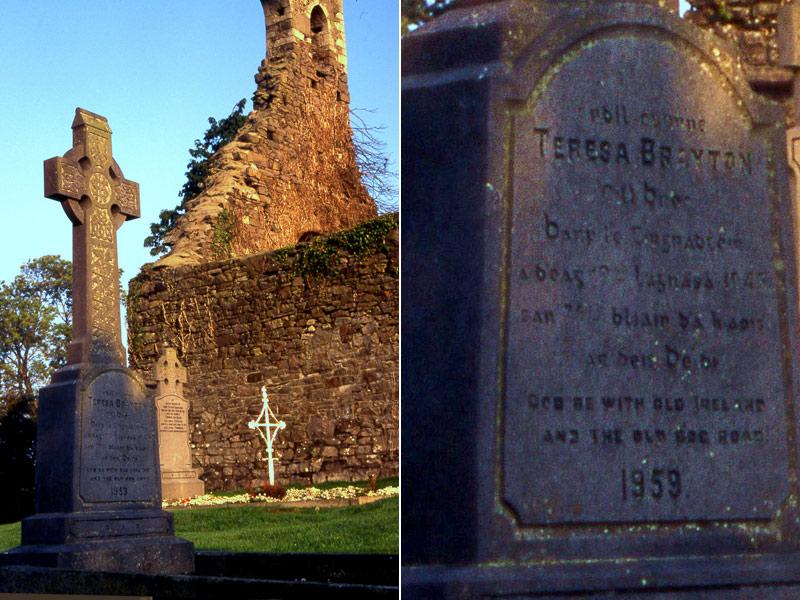 Teresa Brayton's grave Cloncurry Churchyard