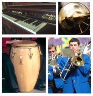 Musical Instruments - Brass - Piano - Drum