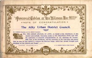 Address by Athy UDC to Pope Leo XIII, 1902.