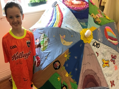 Artistic Fun with Fabric by kids from Creative Sewing, Rathangan
