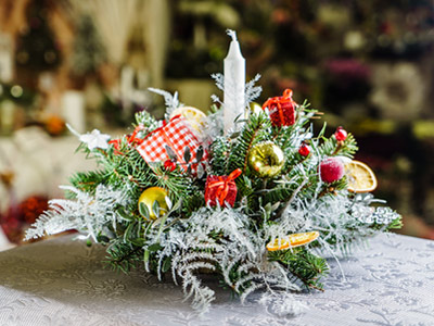 Christmas Flower Demonstration with Christine Hughes