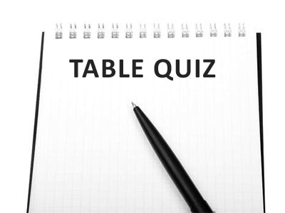 Table Quiz & Raffle