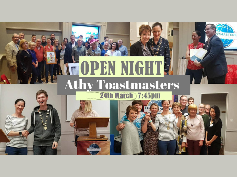 Athy Toastmasters Free Speech Evaluation Workshop