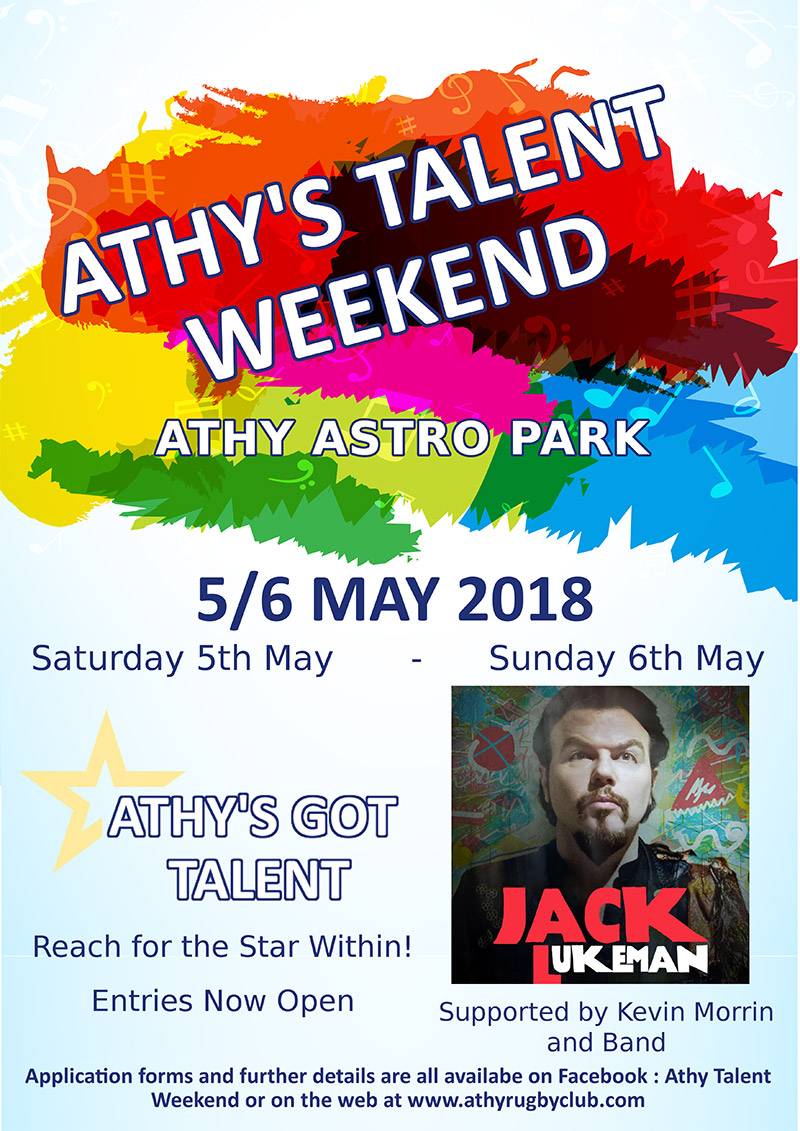 Athy's Got Talent Weekend Poster