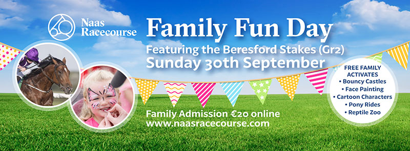 Family Fun Day at Naas Racecourse on Sunday 30th September 2018