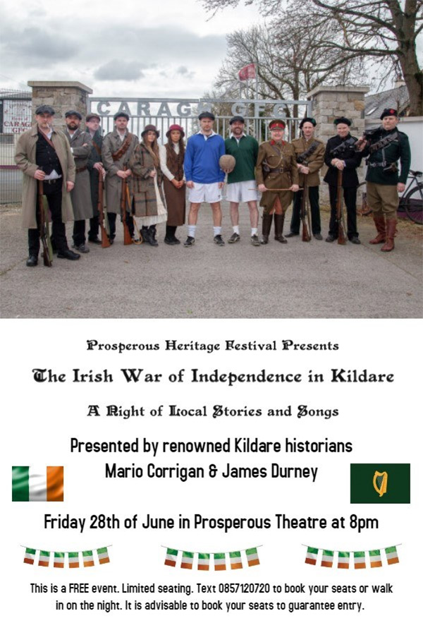 Talk by James Durney and Mario Corrigan - The Irish War of Independence in Kildare