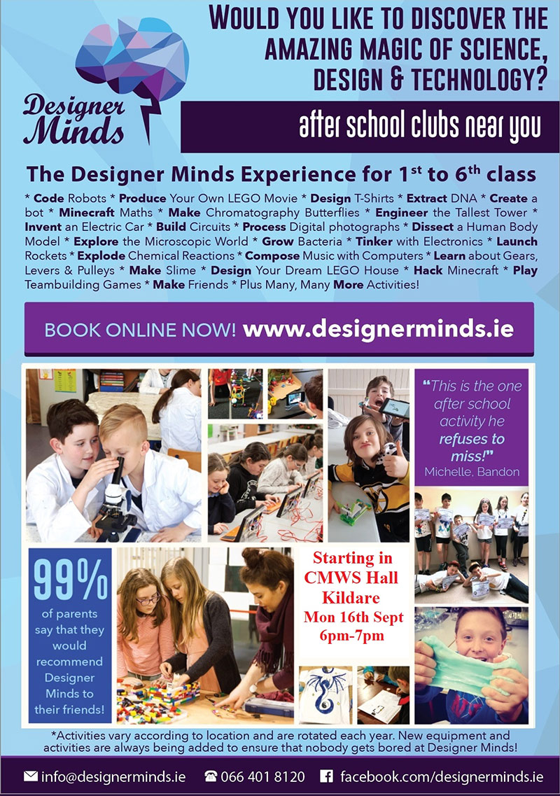 Designer Minds - Primary Science, Design, and Technology Clubs for Kids