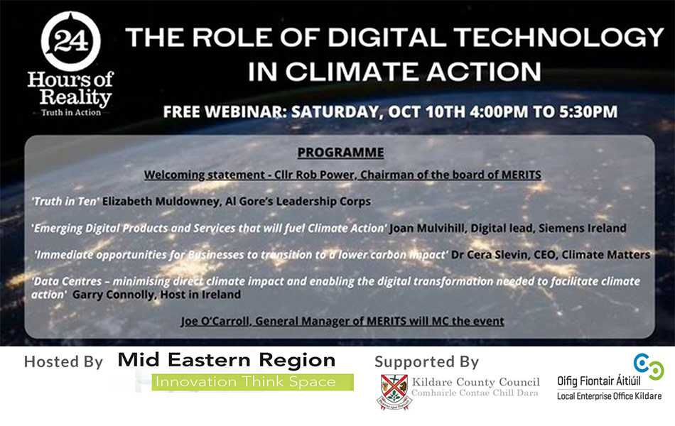 Free Webinar - The Role in Digital Technology of Climate Action