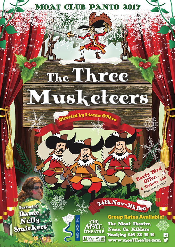 The Three Muskateers Panto at Moat Theatre