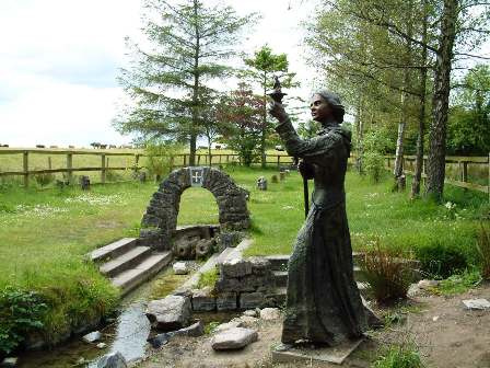 Beautiful Statue of St. Brigid by sculptor Annette McCormack