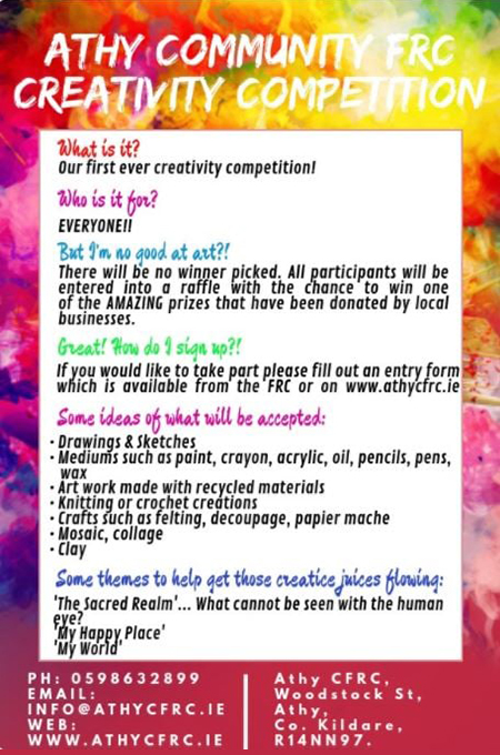 Athy Community Family Resource Centre Creativity Competition 2020