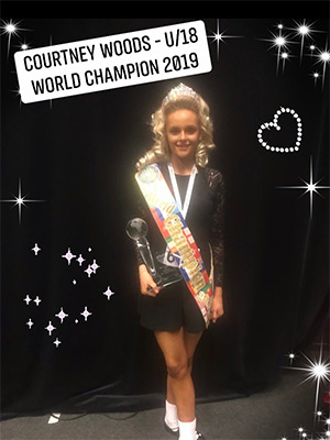 Courtney Woods u18 World Irish Dance Champion 2019