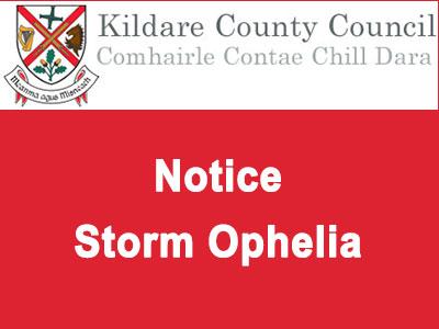 Notice - Storm Ophelia