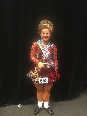 World Irish Dance Championships 2019 Ellen Gray U21 World Podium Placer