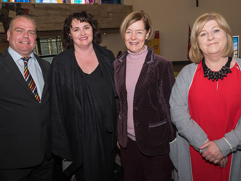 Cllr. Thomas Redmond; Sonya Kavanagh, Kildare County Council; The Hon. Alexandra Shackleton; and Cllr. Aoife Breslin, Cathaoirleach of the Athy Municipal District Committee.
