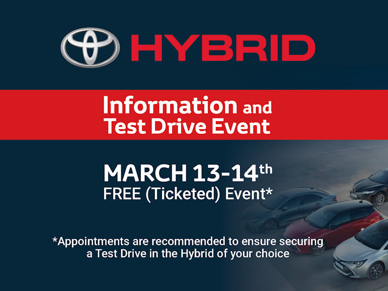 Hybrid Information and Test Drive Event Crossings Toyota Naas