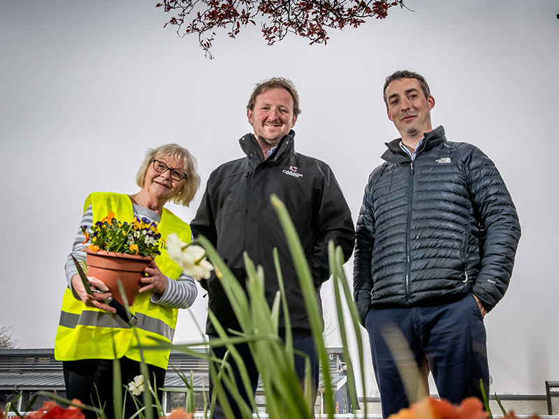 Naas Tidy Towns - Ian McGarry, Pat Clear, Tom Ryan