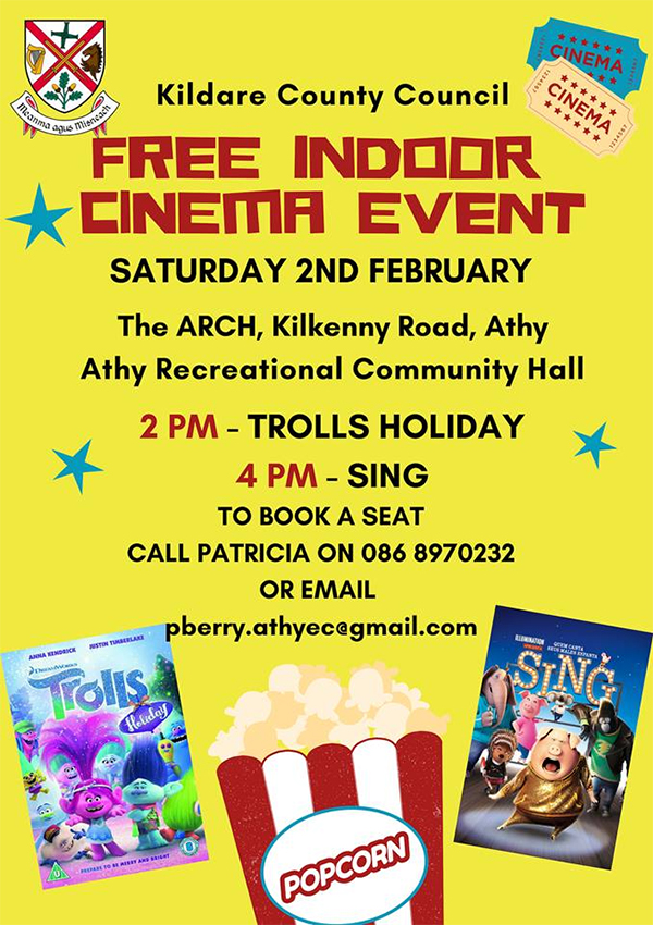 Free Indoor Cinema Event in Athy