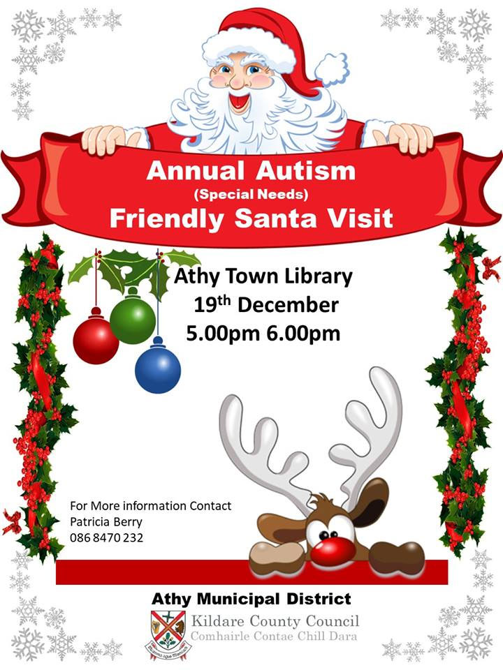 Annual Autism Friendly Santa Visit to Athy Library