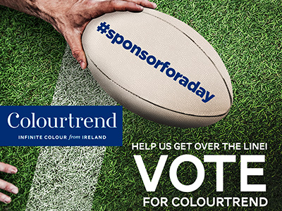 Vote for Kildare's Colourtrend in #sponsorforaday
