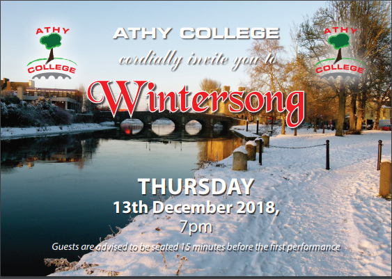 Invitation to Athy College - 'WinterSong'