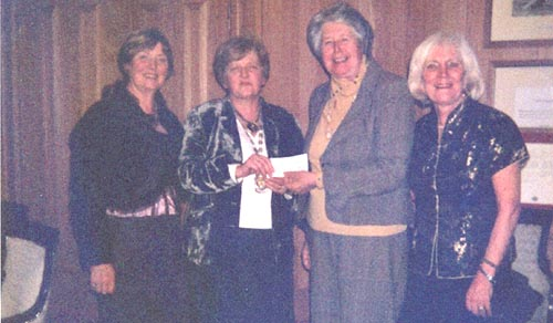 Presentation of cheque, the proceeds of Golf Classic in the K Club, ay 2007, in aid of St. Brigid's Hospice, the Curragh.